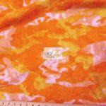 Orange Camo Print Fleece Fabric By The Yard
