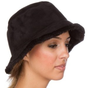 Vintage Style Suede Winter Hat