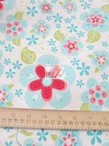 Blooms Riley Blake Cotton Duck Fabric Measurement By The Yard