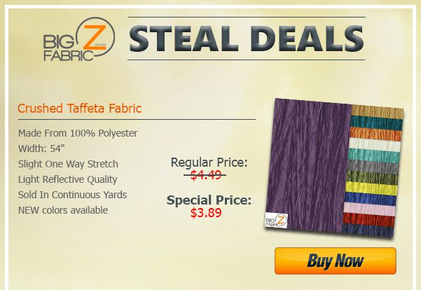 Crushed Taffeta Fabric Steal Deal