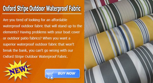 Oxford Stripe Outdoor Fabric