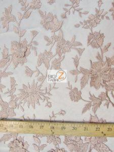 3D Hybrid Floral Lace Mesh Fabric Measurement