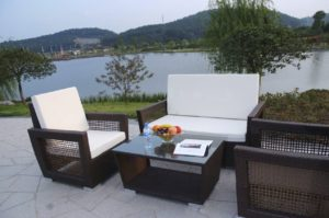 White Waterproof Outdoor Furniture