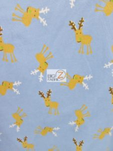Wandering Christmas Deer Fleece Fabric