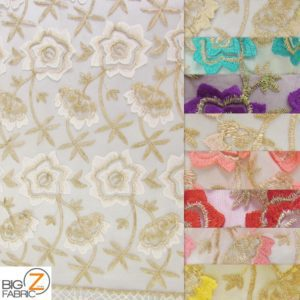 Oasis Starflower Guipure Mesh Lace Fabric By The Yard