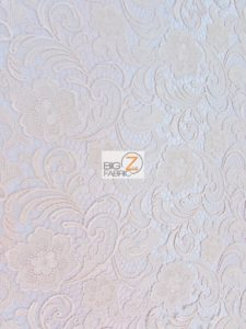 Rose Floral Paisley Guipure Venice Lace Fabric Ivory By The Yard