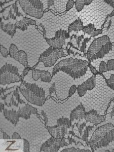 Flower Lace Fabric Black