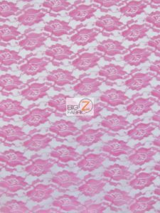 Flower Lace Fabric Fuchsia