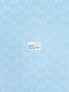 Flower Lace Fabric Light Blue