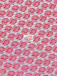Flower Lace Fabric Red