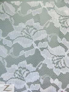 Flower Lace Fabric White