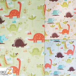 Prehistoric Animals Riley Blake 100% Cotton Duck Fabric