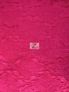 Diamond Crush Taffeta Fabric Fuchsia