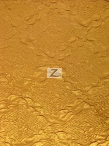 Diamond Crush Taffeta Fabric Gold
