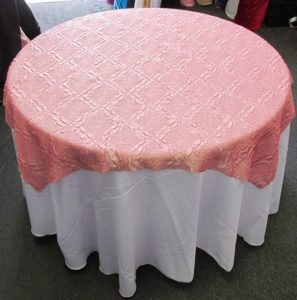 Diamond Crushed Taffeta Party Table Overlay